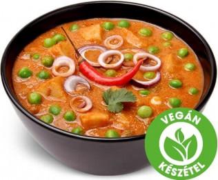 Burgonya borsóval curry mártásban